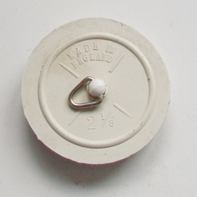 "2.1/8"" Tapered White Sink / Bath Rubber Plug - 74000350"